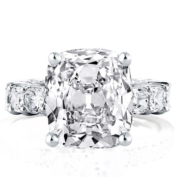Cushion Eternity Engagement Ring(7.35 CT. TW.), White