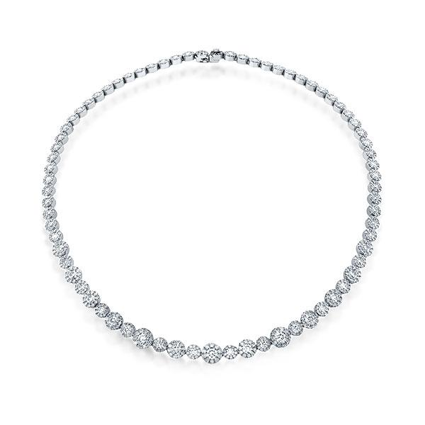 Classic Halo Round Cut Cool Necklace
