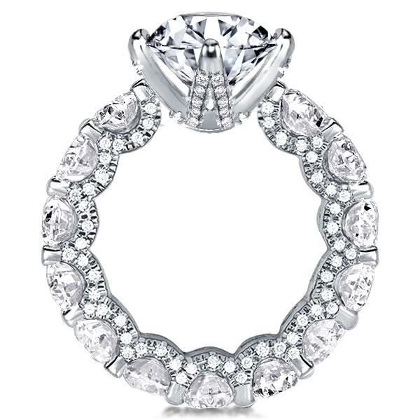 Eternity Round Cut Engagement Ring, White