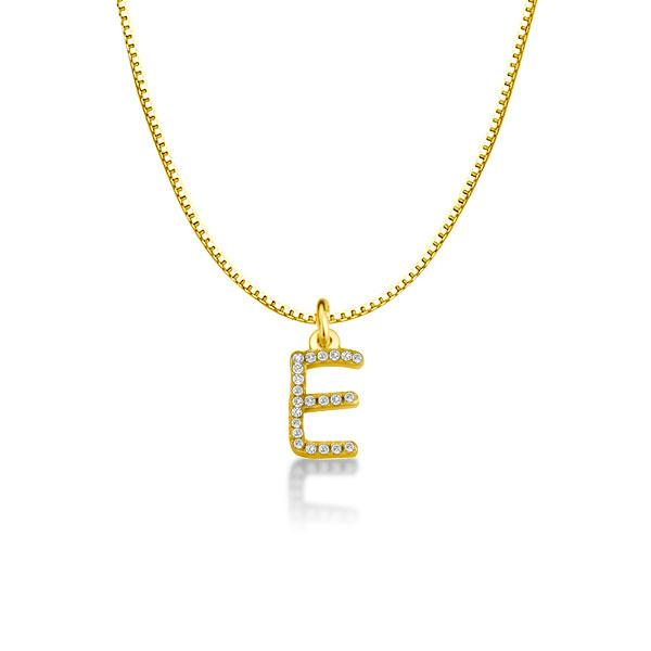 14k Gold Plating Initial Necklace