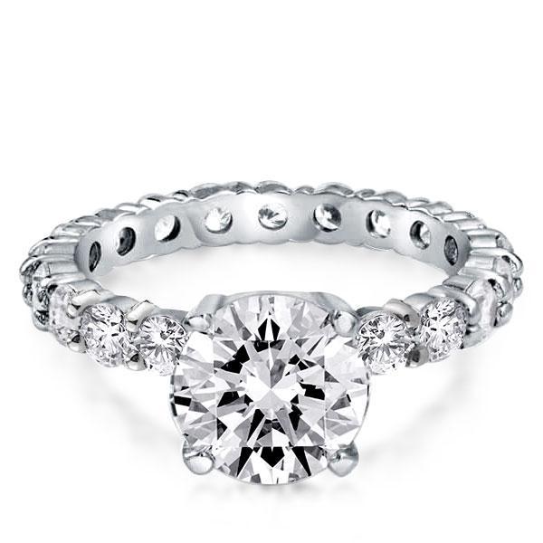 Italo Classic Eternity Created White Sapphire Engagement Ring