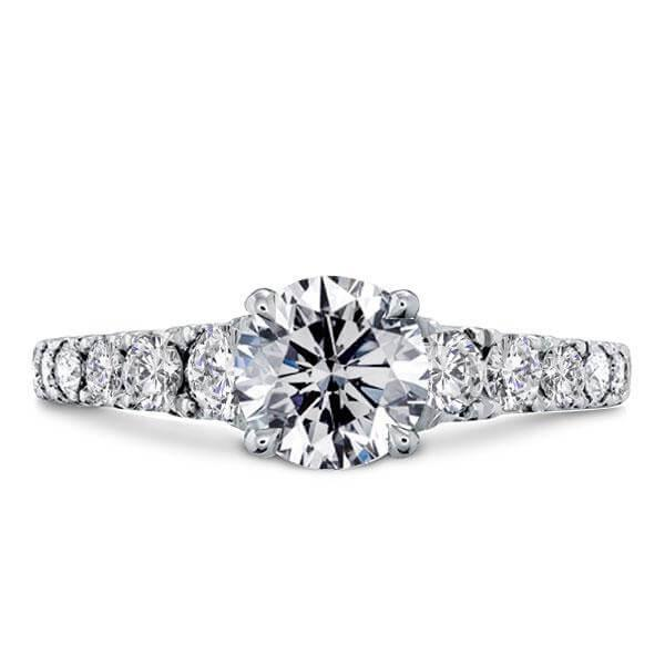 Italo Half Eternity Created White Sapphire Engagement Ring