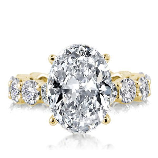 Golden Eternity Oval Engagement Ring, White