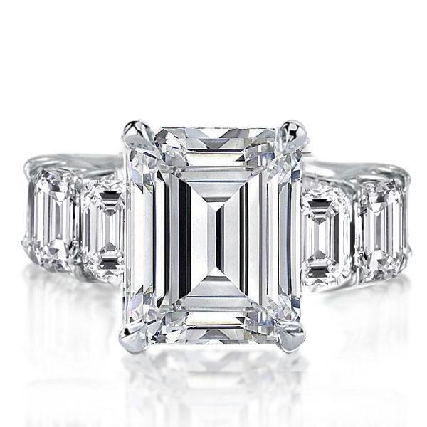 Italo Emerald Eternity Created White Sapphire Engagement Ring