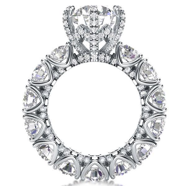 Italo Eternity Round Created White Sapphire Engagement Ring