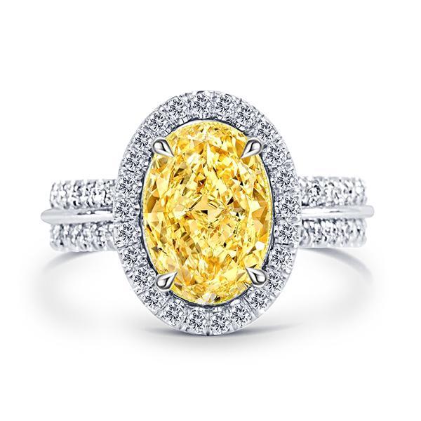 Italo Halo Created Topaz Engagement Ring, White