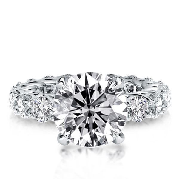 Italo Round Eternity Created White Sapphire Engagement Ring