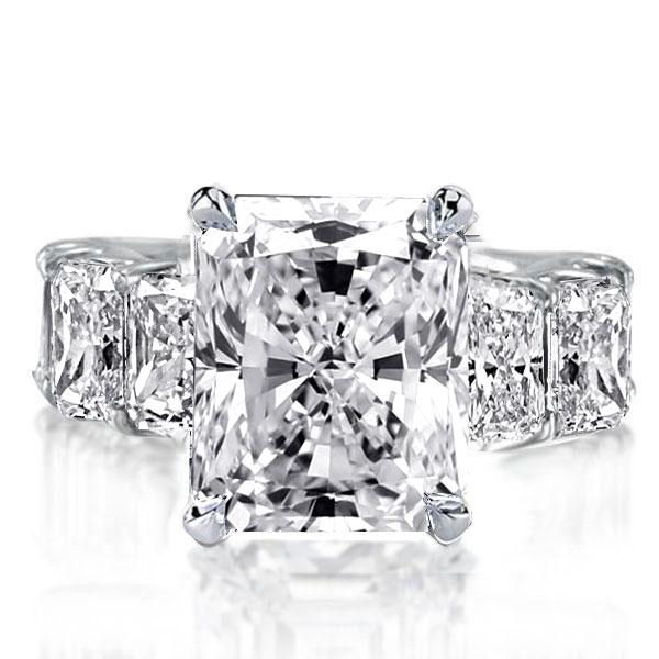 Italo Radiant Eternity Created White Sapphire Engagement Ring