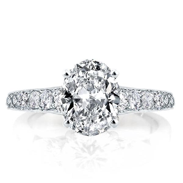 Italo Eternity Oval Created White Sapphire Engagement Ring