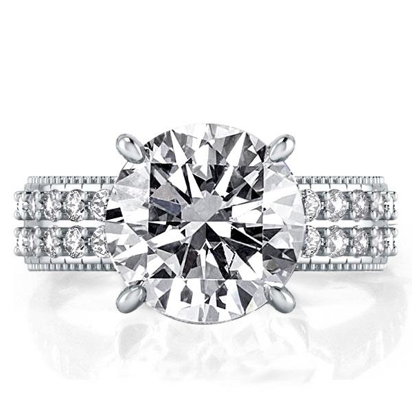 Italo Double Row Created White Sapphire Engagement Ring