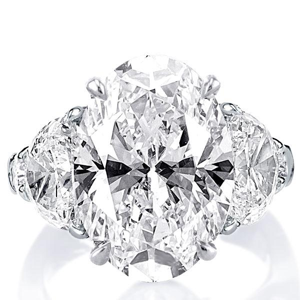 Five Stone Oval Engagement Ring(11.35 CT. TW.), White