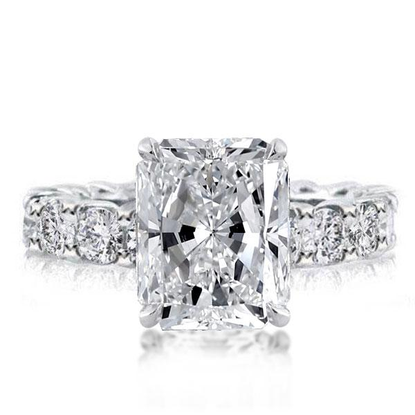 Eternity Radiant Created White Sapphire Engagement Ring