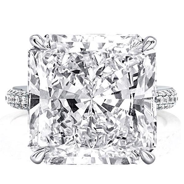 Hidden Halo Princess Engagement Ring(13.25 CT. TW.), White