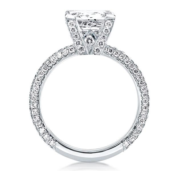 Pave Shank Round Engagement Ring(4.35 CT. TW.), White