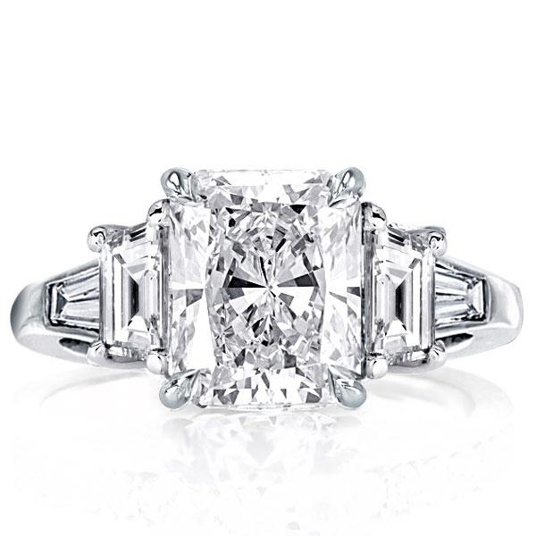 Five Stone Radiant Engagement Ring(4.75 CT. TW.), White