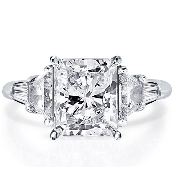 Five Stone Radiant Engagement Ring(5.75 CT. TW.), White