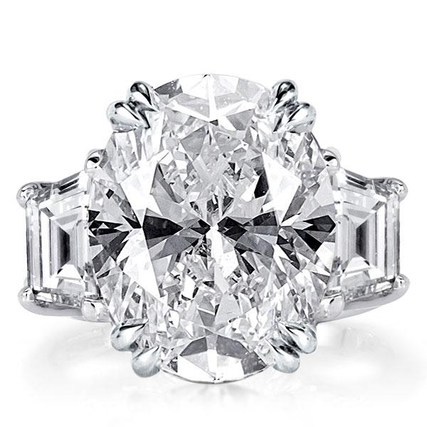 Three Stone Oval Engagement Ring(11.35 CT. TW.), White