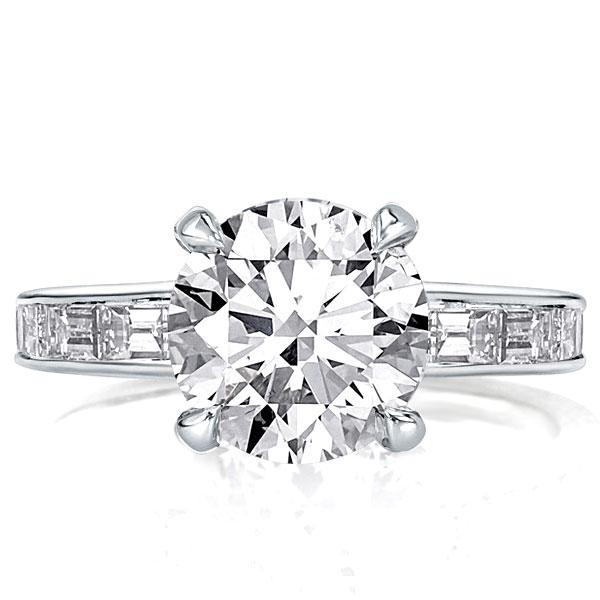 Hidden Halo Created White Sapphire Engagement Ring(3.45 CT. TW.)