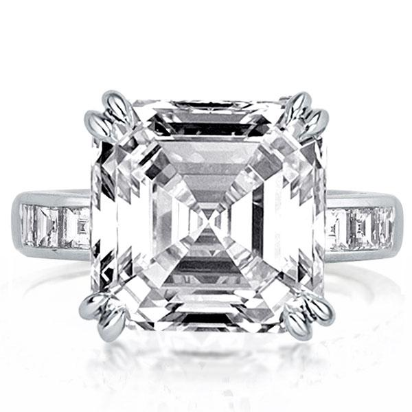 Double Prong Asscher Engagement Ring(7.95 CT. TW.), White