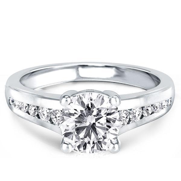 Classic Round Engagement Ring(3.25 CT. TW.), White