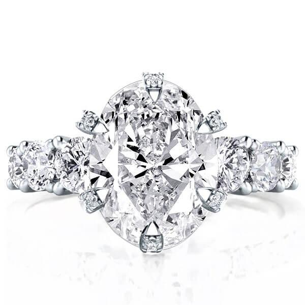 Eternity Oval Engagement Ring (6.08 CT. TW.), White