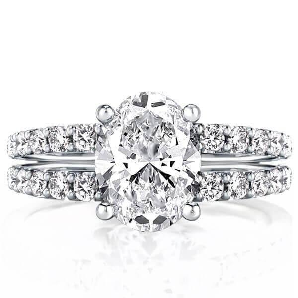 Split Shank Engagement Ring (4.48 CT. TW.), White