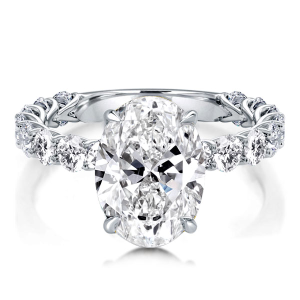 Classic Oval Cut Engagement Ring, White