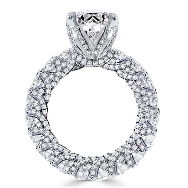 Round Cut Eternity Shank Engagement Ring, White
