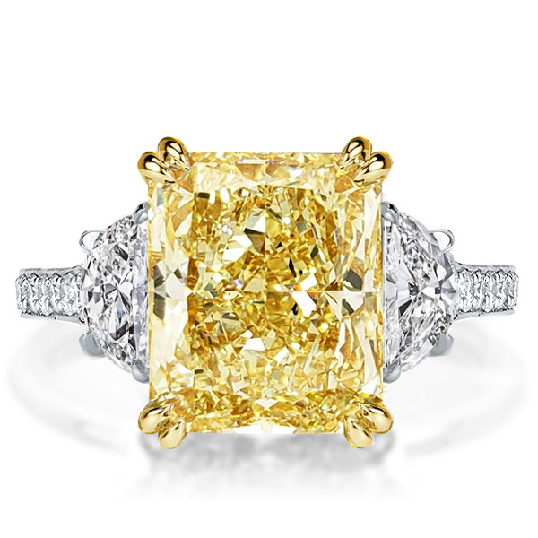 Fancy Yellow Radiant Engagement Ring