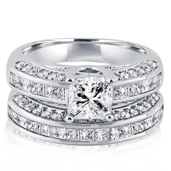 Italo Classic Created White Sapphire Bridal Set (3.11 CT. TW.)