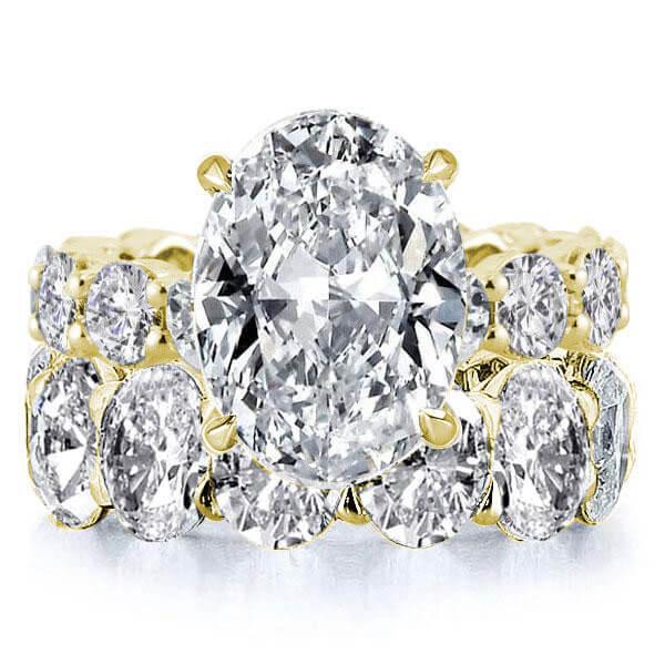Oval Eternity Golden Created White Sapphire Bridal Set