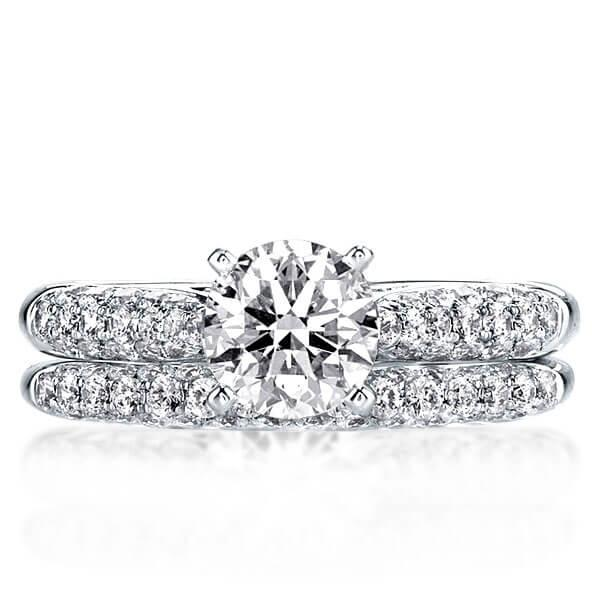 Pave Setting Created White Sapphire Bridal Set (2.56 CT. TW.)
