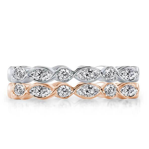 Eternity Stackable Created White Sapphire Band Set(4.08 CT. TW.)