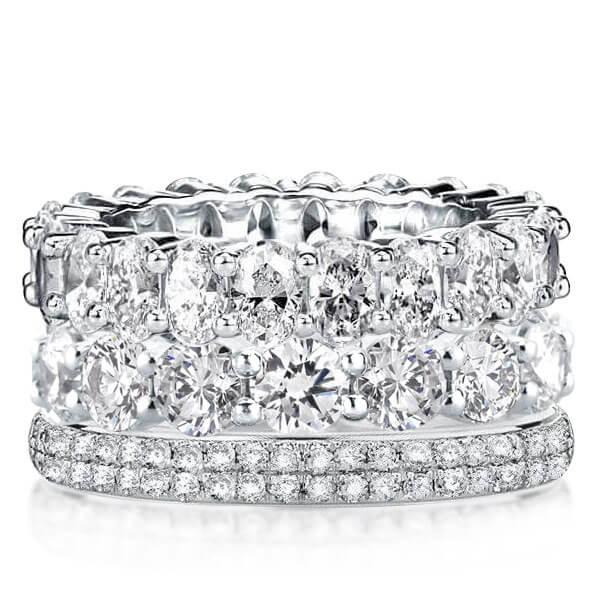 Eternity Triple Row Stackable Band Set (10.70 CT. TW.), White
