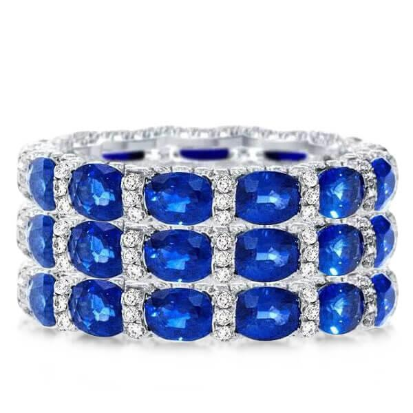 Oval Eternity Stackable Band Set (9.75 CT. TW.), White