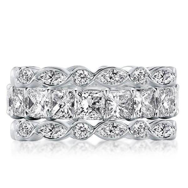 Eternity Stackable Band Set (7.65 CT. TW.), White