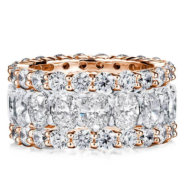 Eternity Two Tone Stackable Band Set (41.90 CT. TW.), White