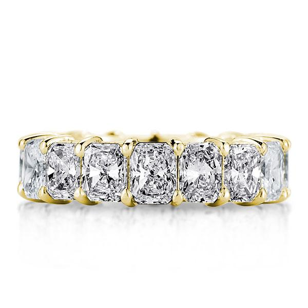 Golden Radiant Eternity Wedding Band, White