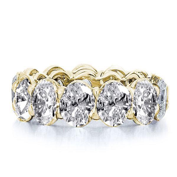 Italo Golden Oval Eternity Created White Sapphire Wedding Band