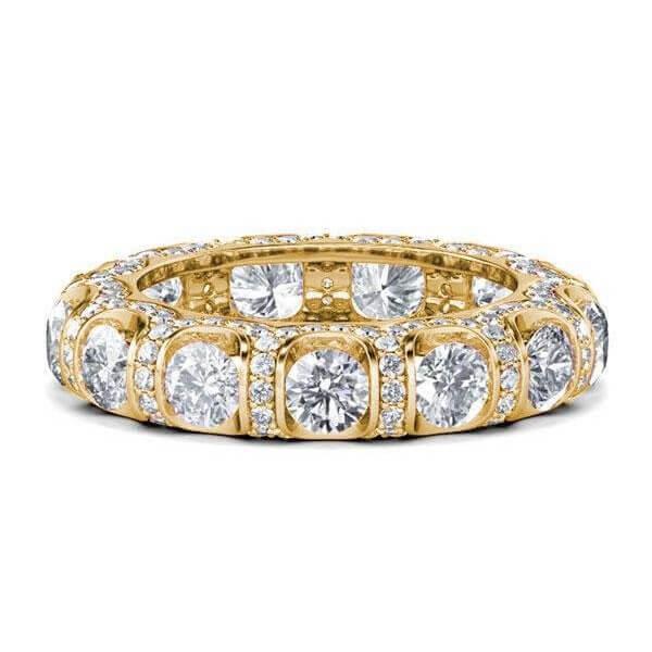 Golden Eternity Wedding Band (4.10 CT. TW.), White