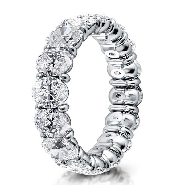 Italo Oval Eternity Created White Sapphire Wedding Band