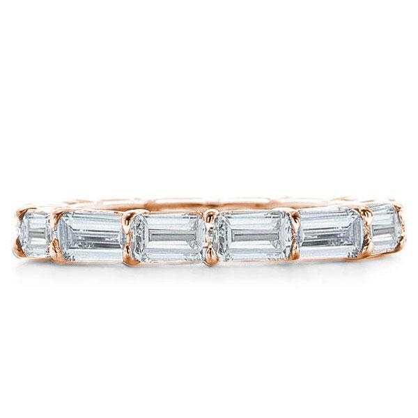 Rose Gold Baguette Eternity Wedding Band(3.20 CT. TW.), White
