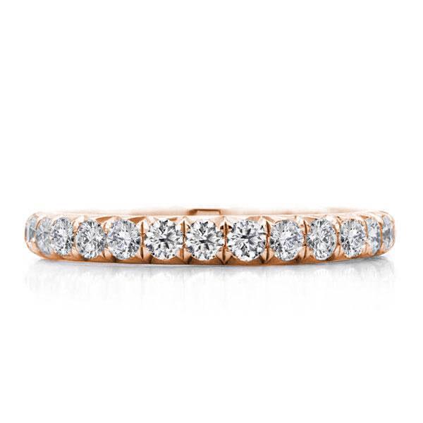 Rose Gold Eternity Wedding Band(0.75 CT. TW.), White