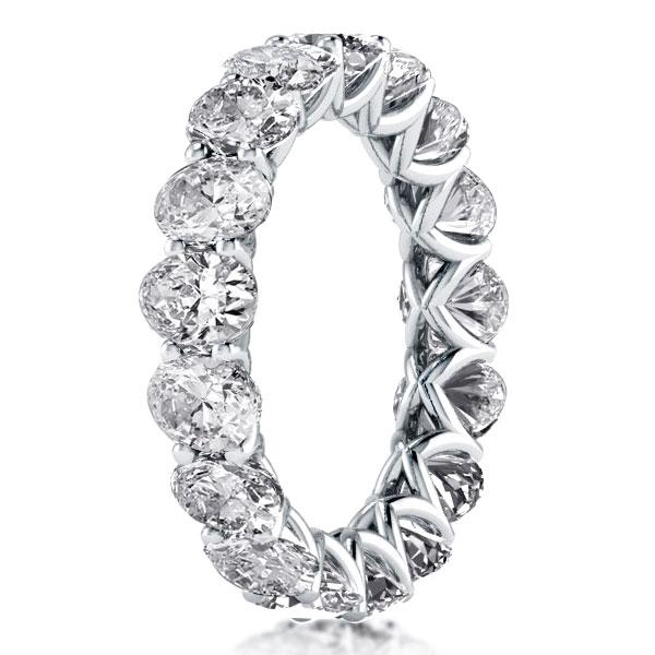 Eternity Oval Created White Sapphire Wedding Band(6.00 CT. TW)