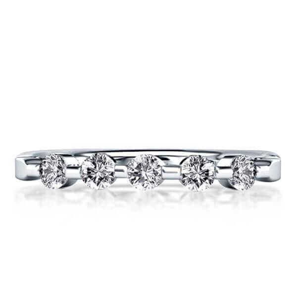 Solitaire Five Stone Wedding Band (0.30 CT. TW.), White