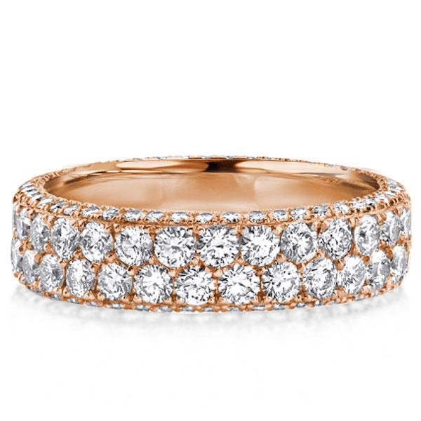 Rose Gold Eternity Micro Pave Wedding Band(2.75 CT. TW.), White