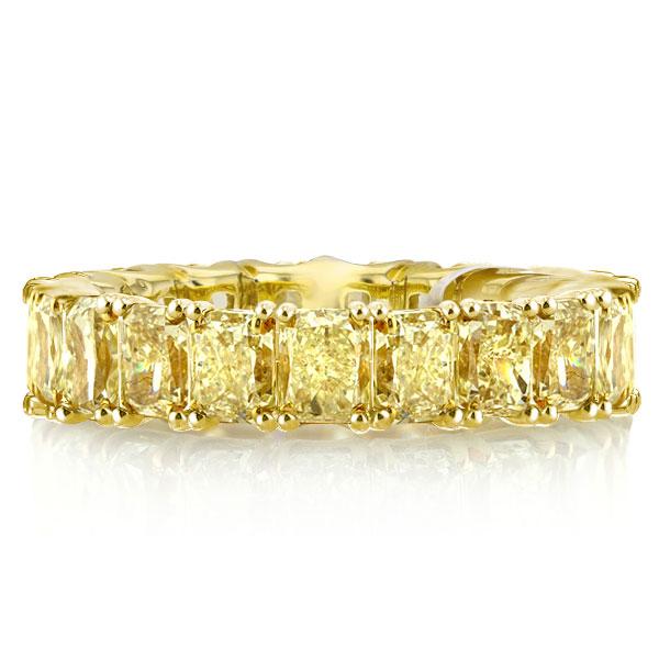 Golden Radiant Eternity Wedding Band