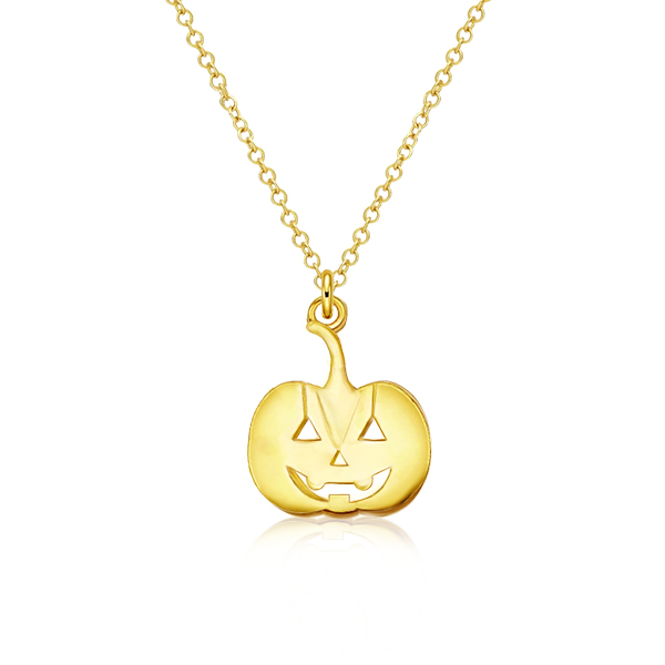 Golden Pumpkin Pendant Necklace