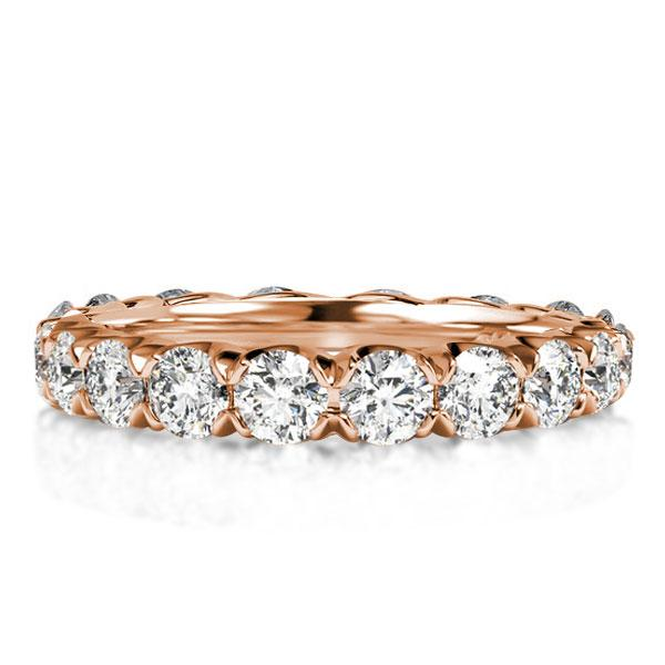 Rose Gold Eternity Created Sapphire Wedding Band(2.80 CT. TW), White