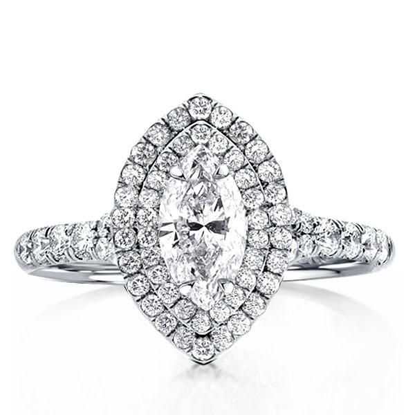Marquise Engagement Ring With Wedding Band